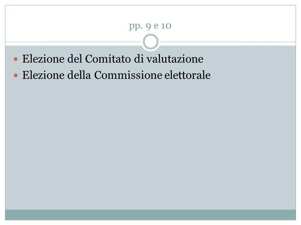 Elezione del Comitato di valutazione