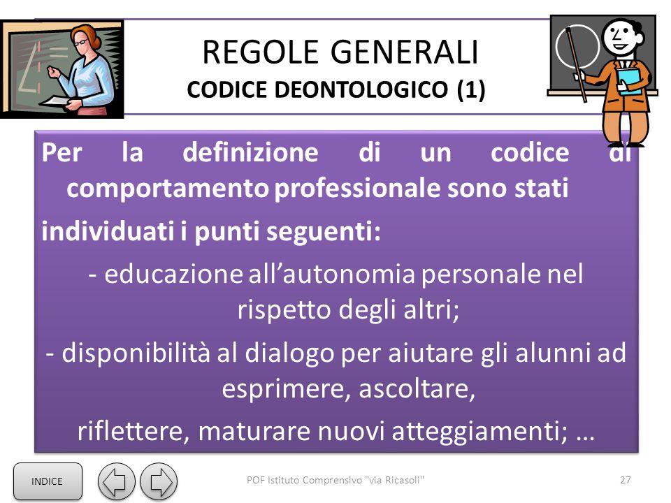 REGOLE GENERALI CODICE DEONTOLOGICO (1)