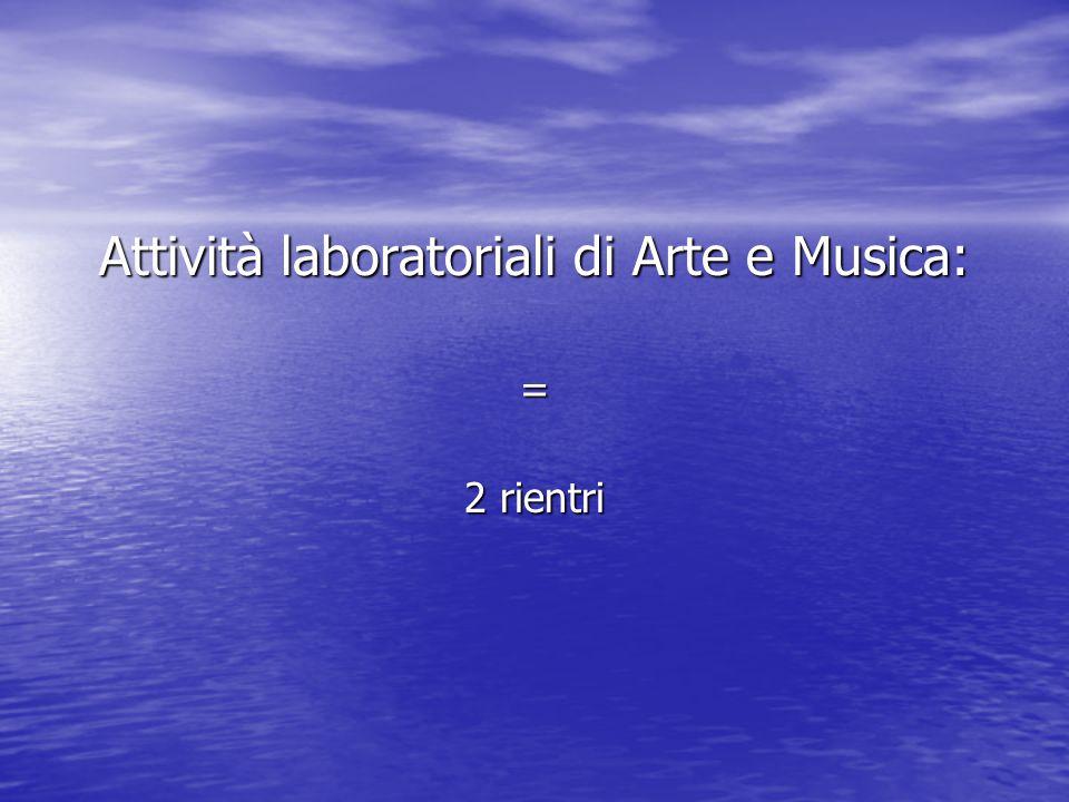 Attività laboratoriali di Arte e Musica: