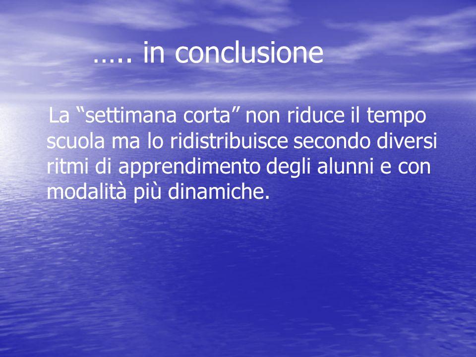 ….. in conclusione