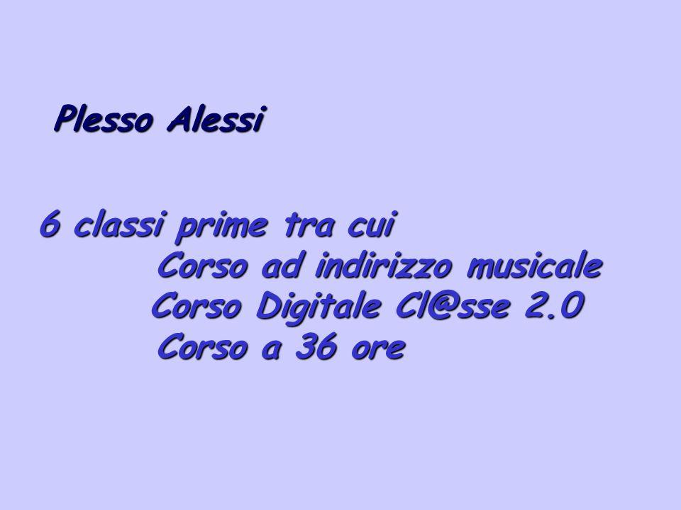 Plesso Alessi 6 classi prime tra cui. Corso ad indirizzo musicale.