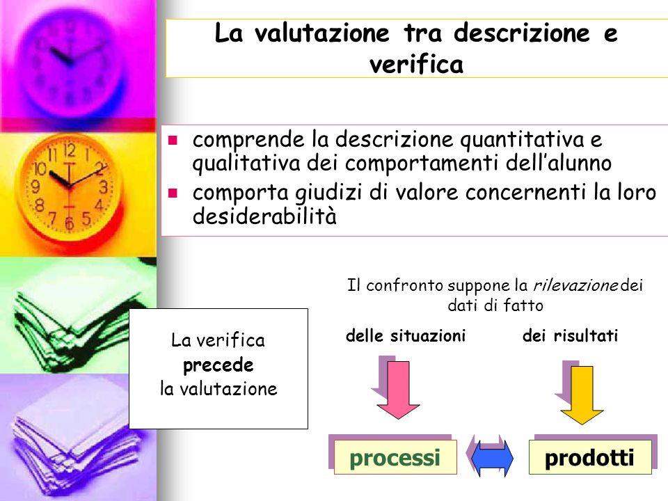 La valutazione tra descrizione e verifica