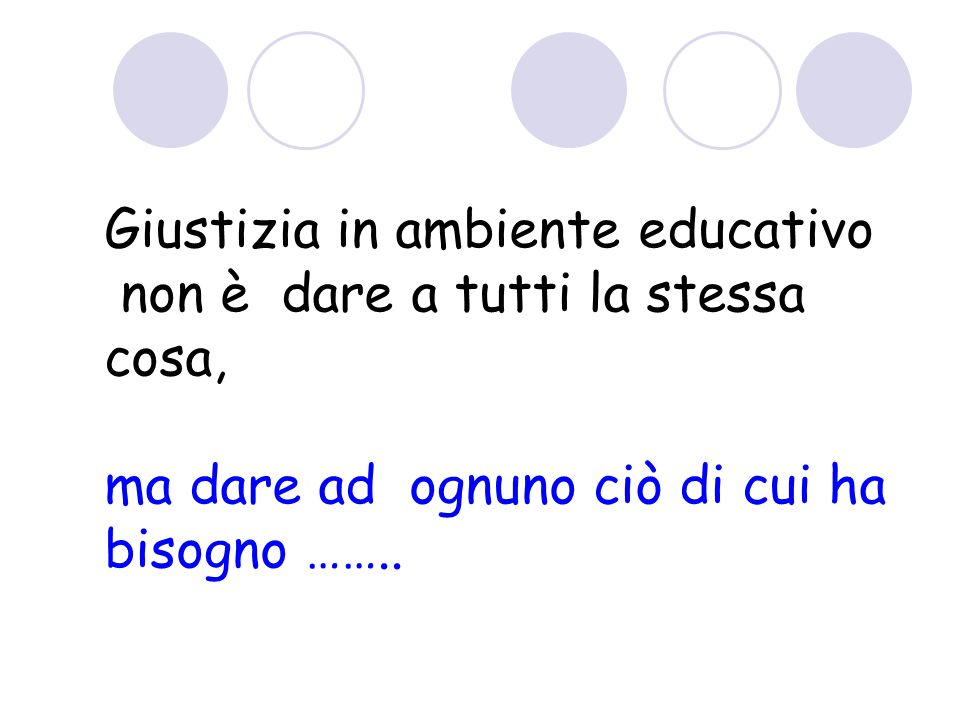 Giustizia in ambiente educativo