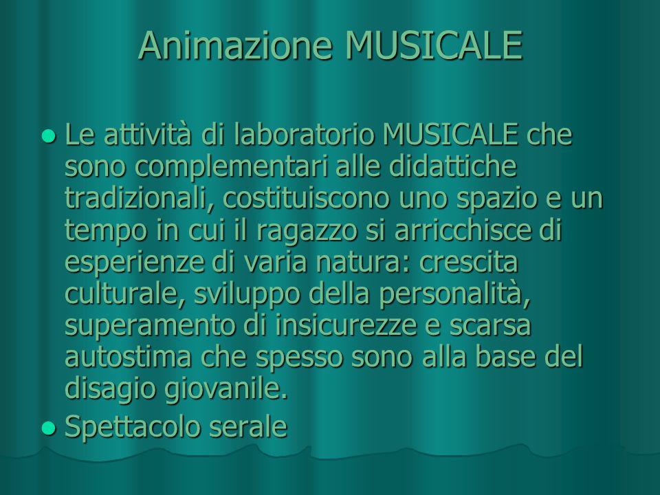 Animazione MUSICALE