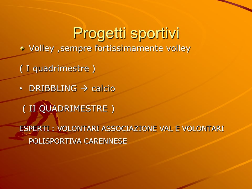 Progetti sportivi Volley ,sempre fortissimamente volley