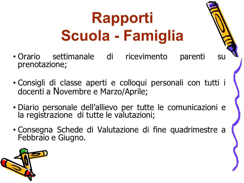Rapporti Scuola - Famiglia