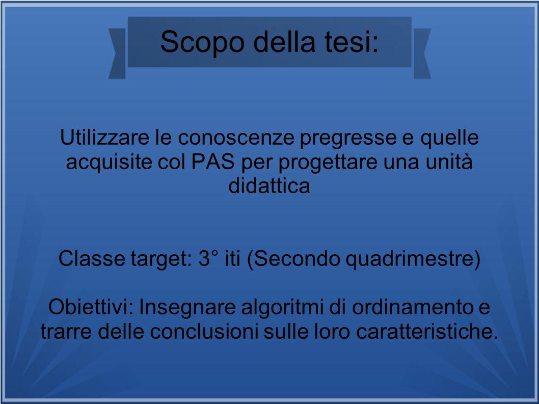 Classe target: 3° iti (Secondo quadrimestre)