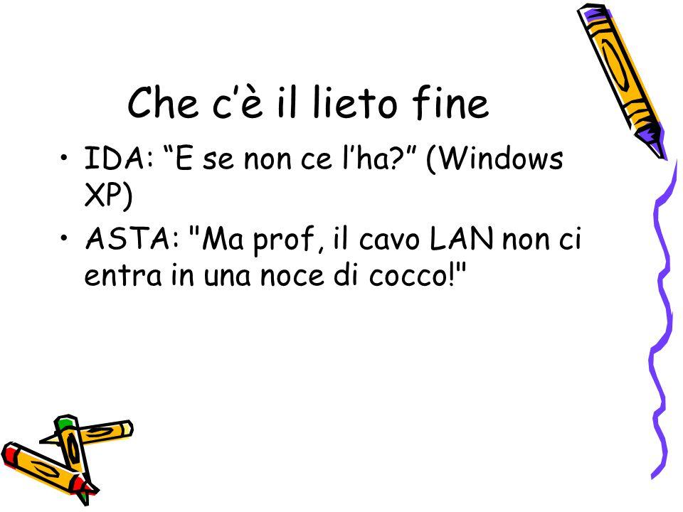 Che c'è il lieto fine IDA: E se non ce l'ha (Windows XP)