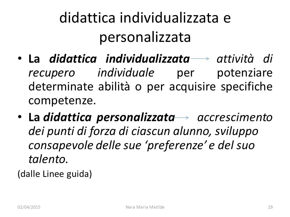didattica individualizzata e personalizzata