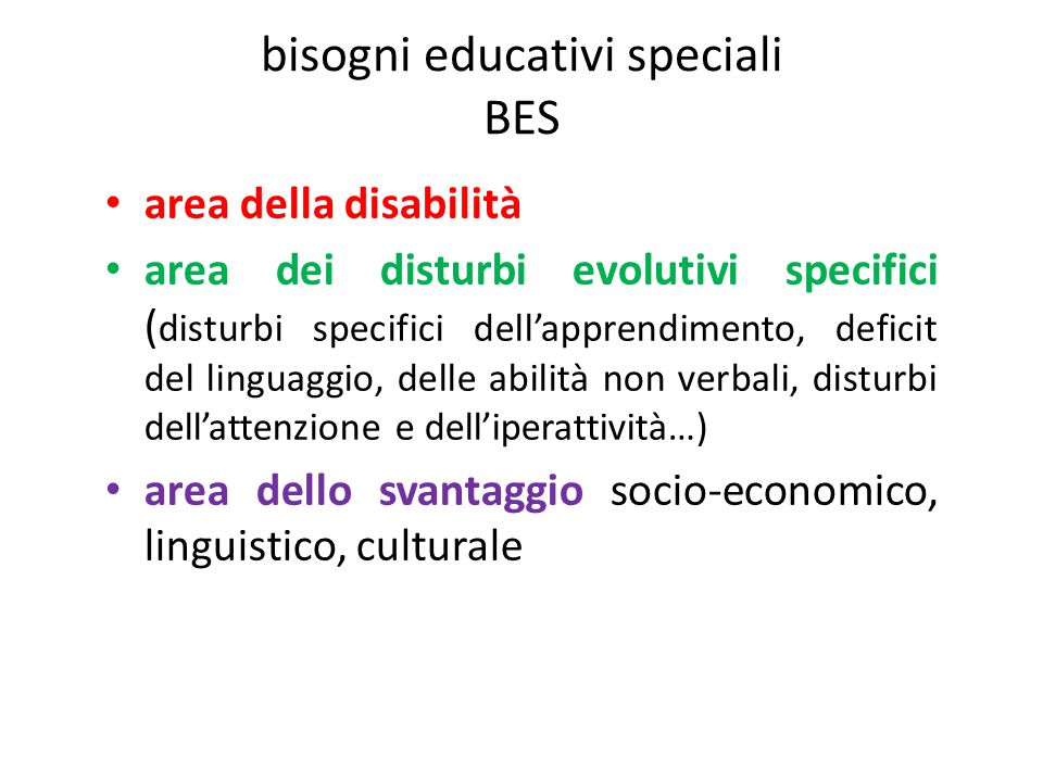 bisogni educativi speciali BES