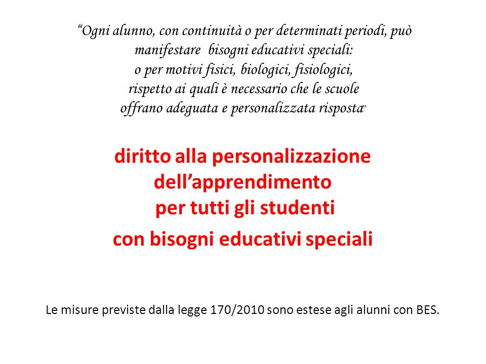 con bisogni educativi speciali