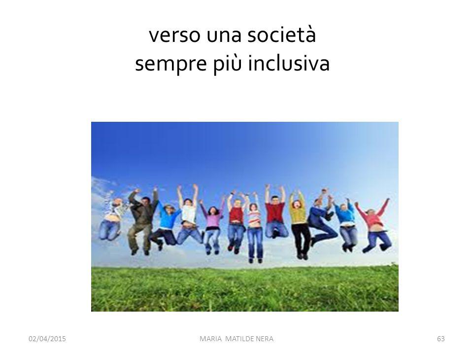 verso una società sempre più inclusiva 09/04/2017 MARIA MATILDE NERA