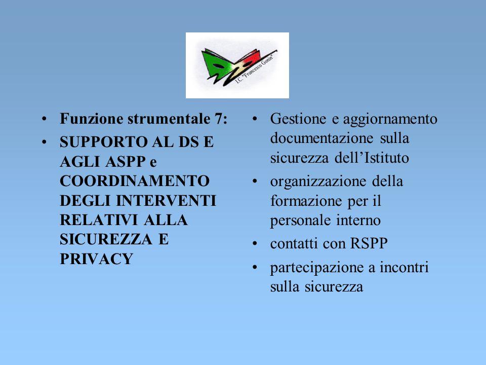 Funzione strumentale 7:
