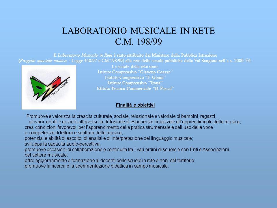 LABORATORIO MUSICALE IN RETE C.M. 198/99