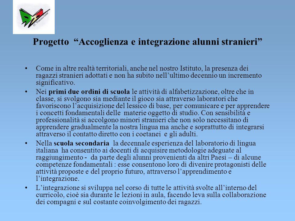 Progetto Accoglienza e integrazione alunni stranieri