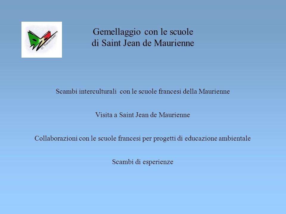 Gemellaggio con le scuole di Saint Jean de Maurienne
