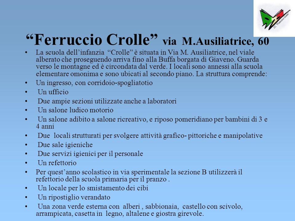 Ferruccio Crolle via M.Ausiliatrice, 60