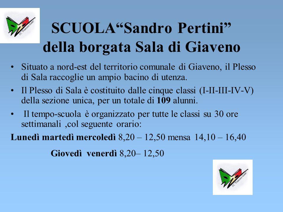 SCUOLA Sandro Pertini della borgata Sala di Giaveno