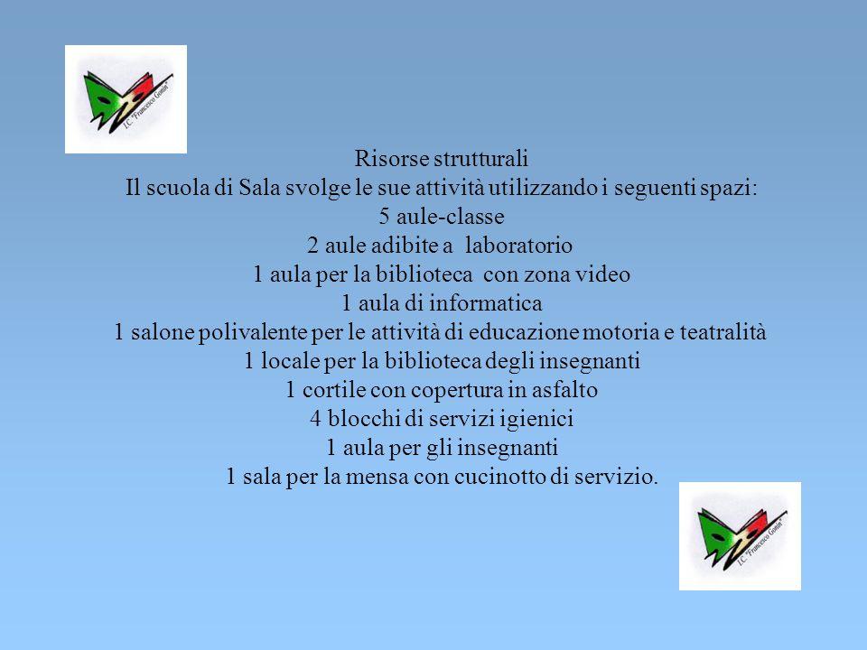 Il scuola di Sala svolge le sue attività utilizzando i seguenti spazi: