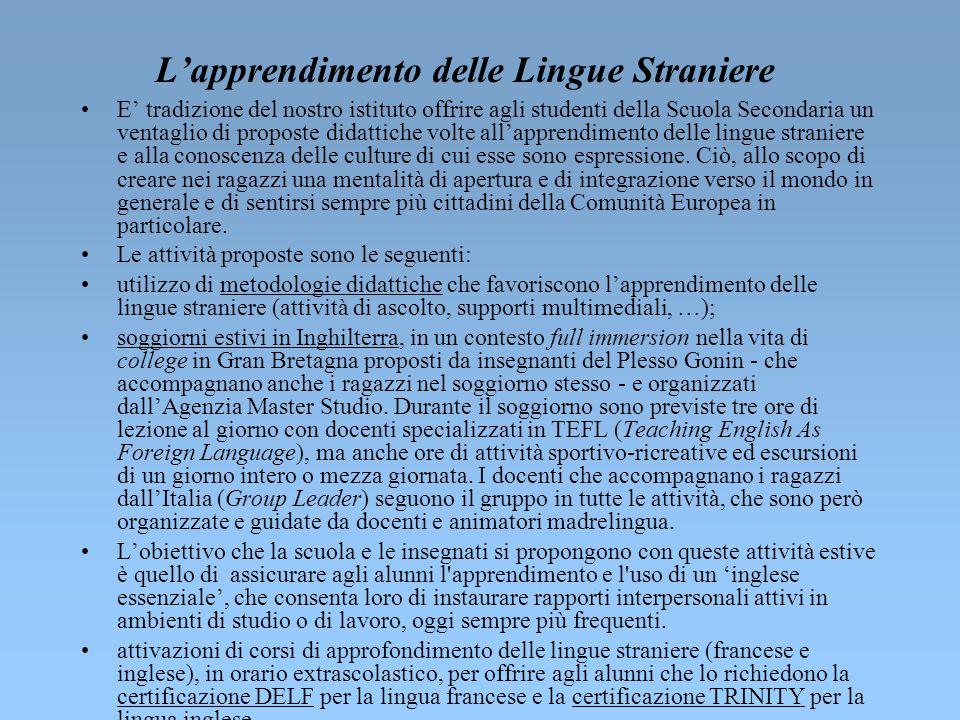 L'apprendimento delle Lingue Straniere