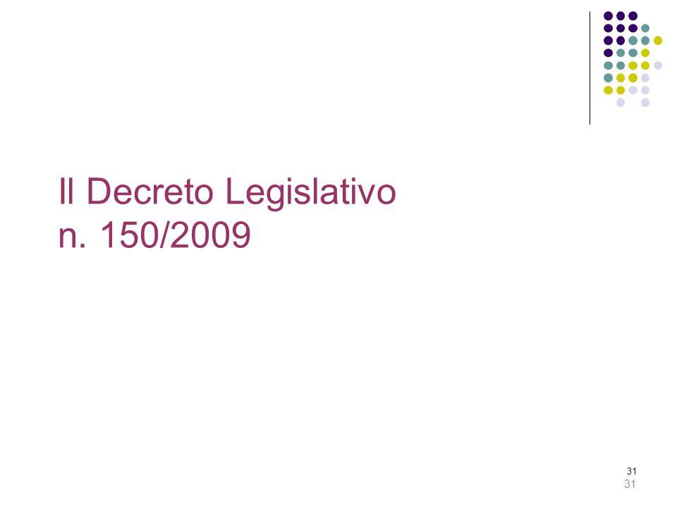 Il Decreto Legislativo n. 150/2009