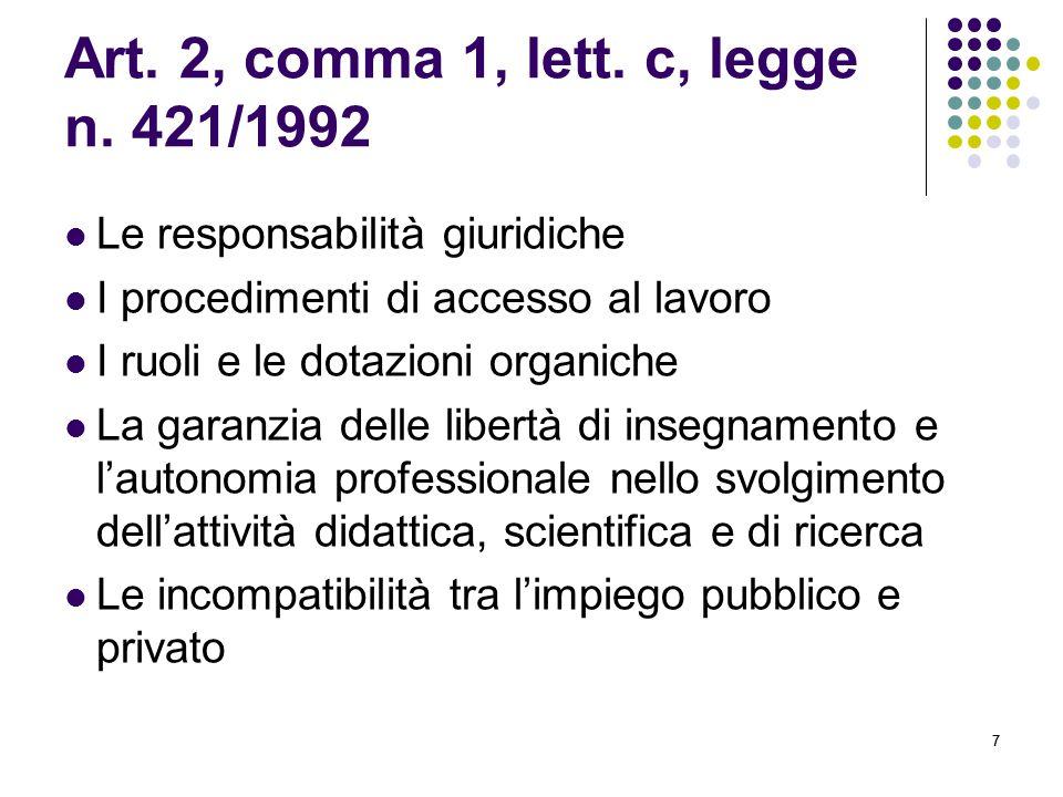 Art. 2, comma 1, lett. c, legge n. 421/1992