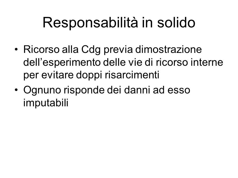 Responsabilità in solido