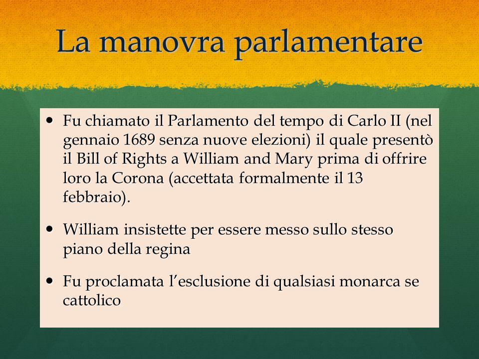 La manovra parlamentare