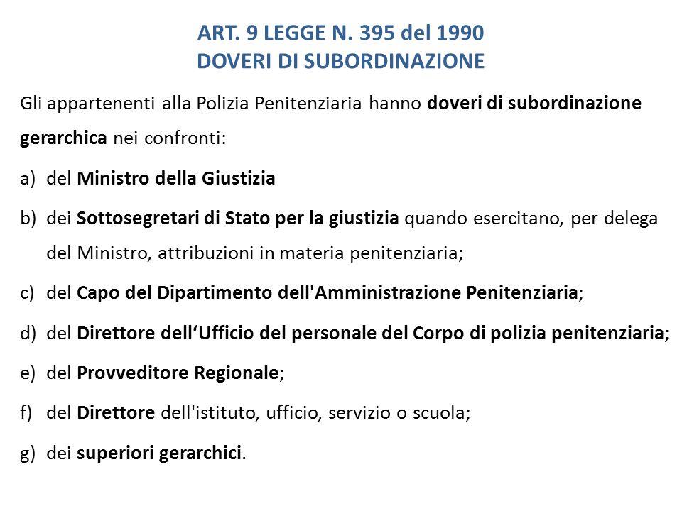 ART. 9 LEGGE N. 395 del 1990 DOVERI DI SUBORDINAZIONE
