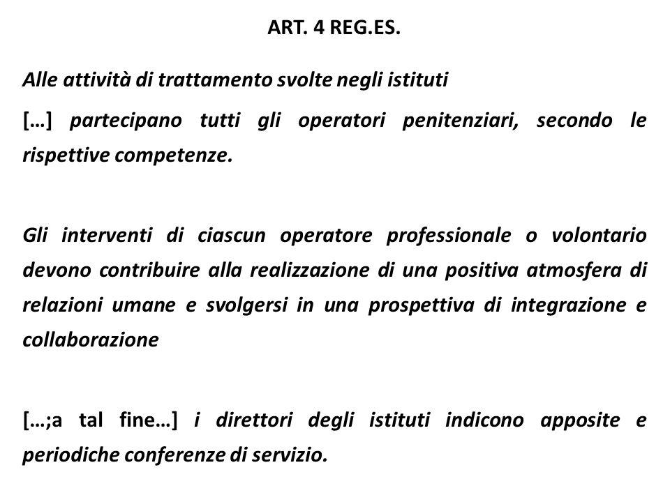 ART. 4 REG.ES. Alle attività di trattamento svolte negli istituti.