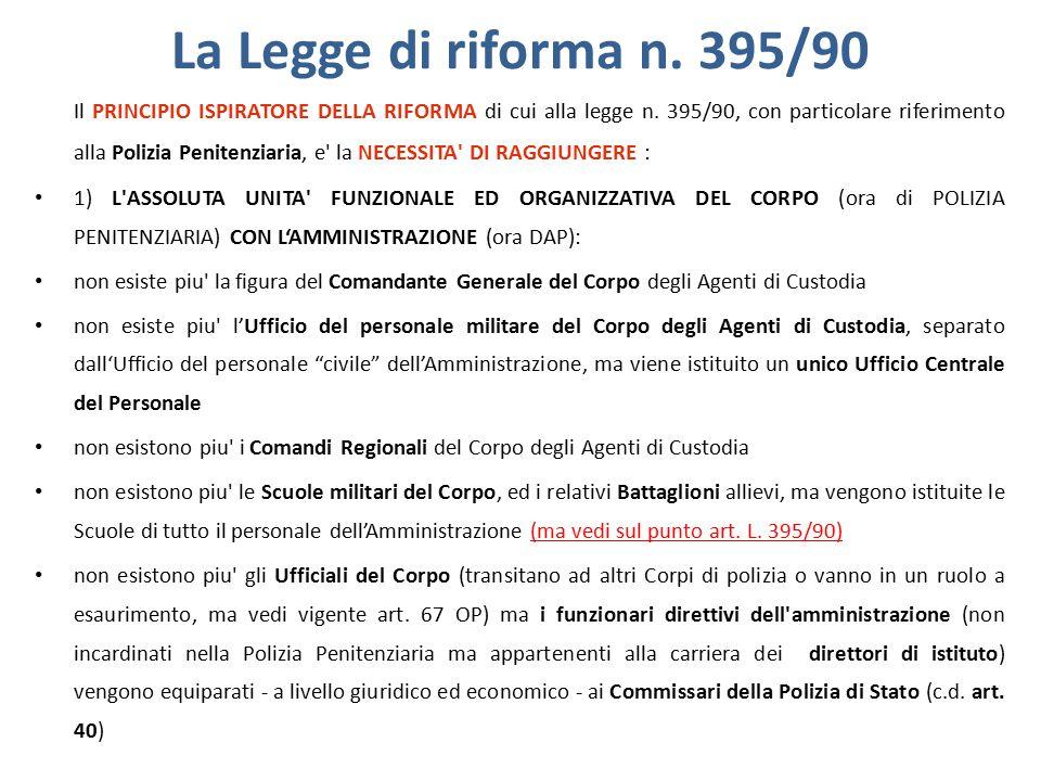La Legge di riforma n. 395/90