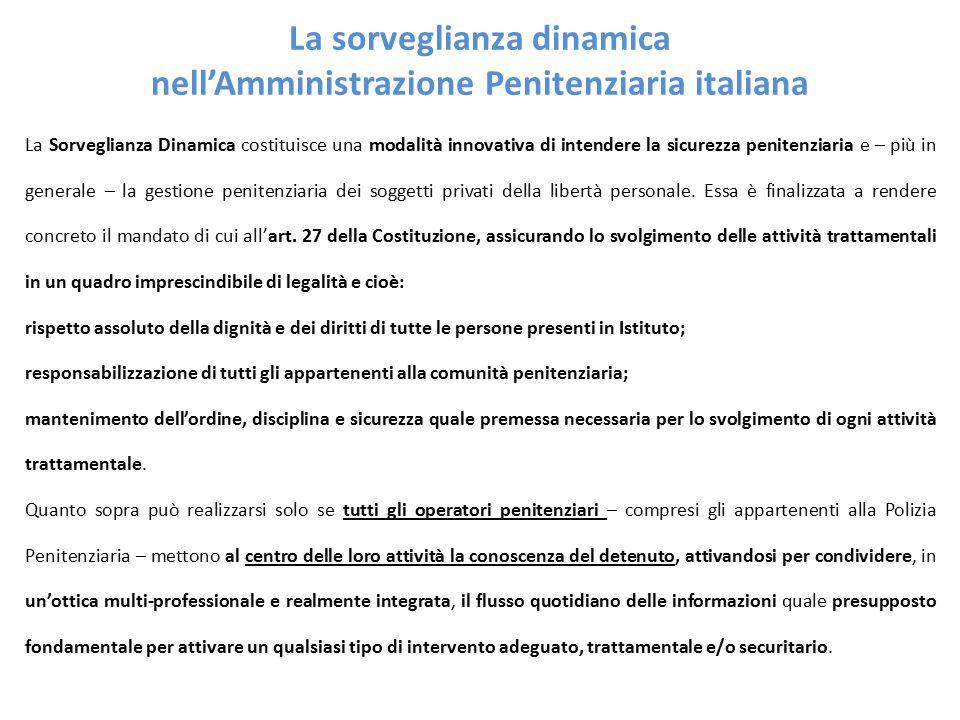 La sorveglianza dinamica nell'Amministrazione Penitenziaria italiana