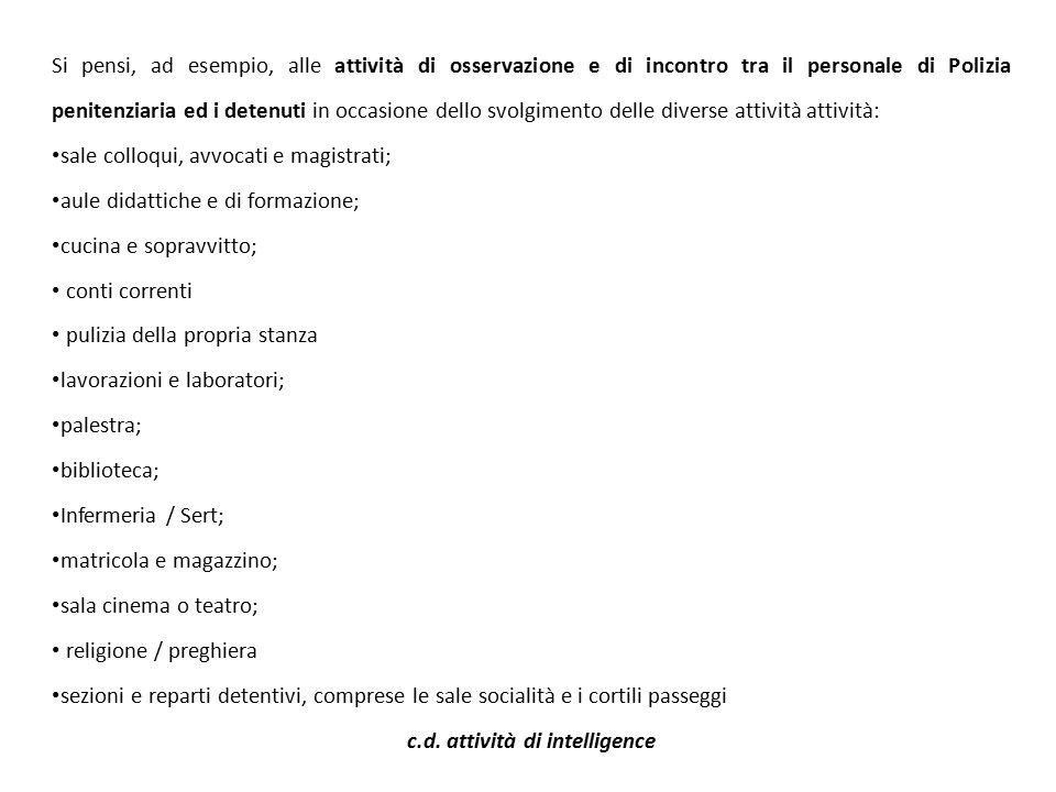 c.d. attività di intelligence