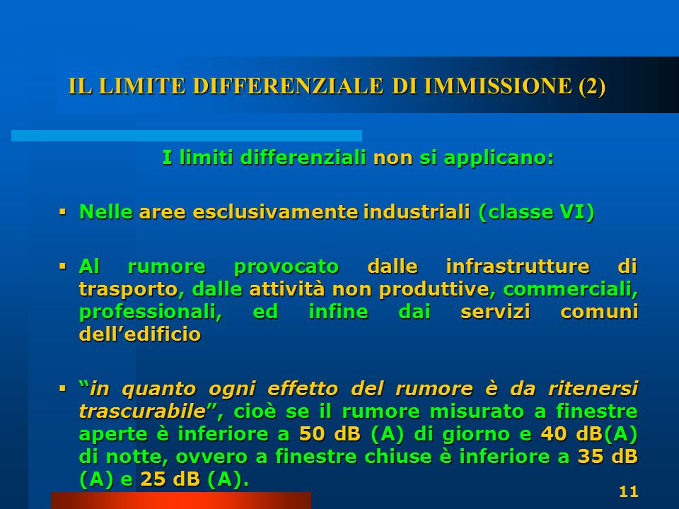 IL LIMITE DIFFERENZIALE DI IMMISSIONE (2)