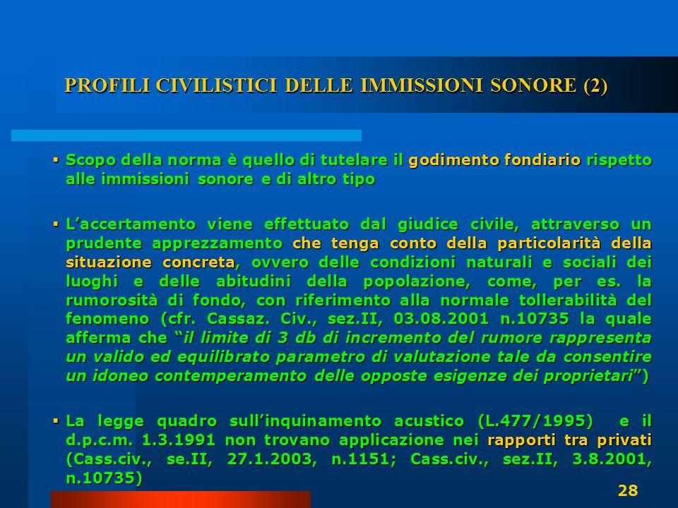PROFILI CIVILISTICI DELLE IMMISSIONI SONORE (2)