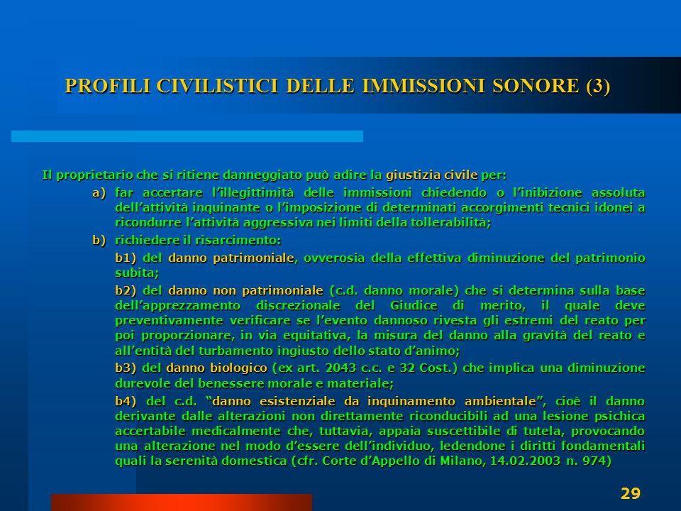 PROFILI CIVILISTICI DELLE IMMISSIONI SONORE (3)
