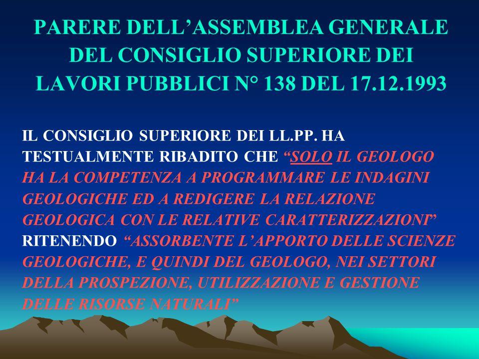 PARERE DELL'ASSEMBLEA GENERALE DEL CONSIGLIO SUPERIORE DEI