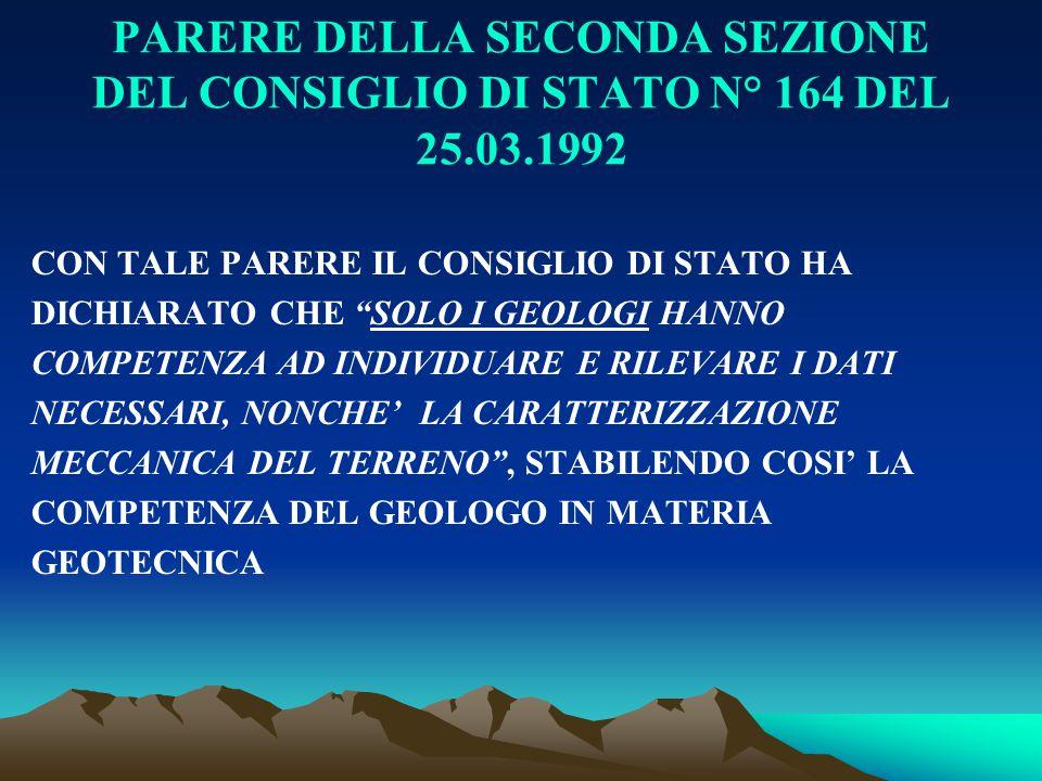 PARERE DELLA SECONDA SEZIONE DEL CONSIGLIO DI STATO N° 164 DEL 25. 03