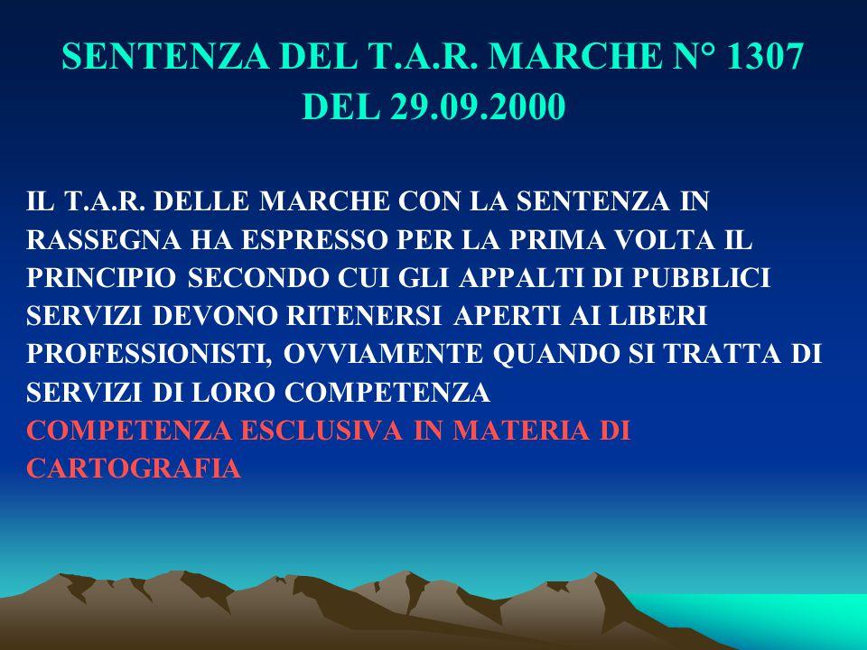 SENTENZA DEL T.A.R. MARCHE N° 1307