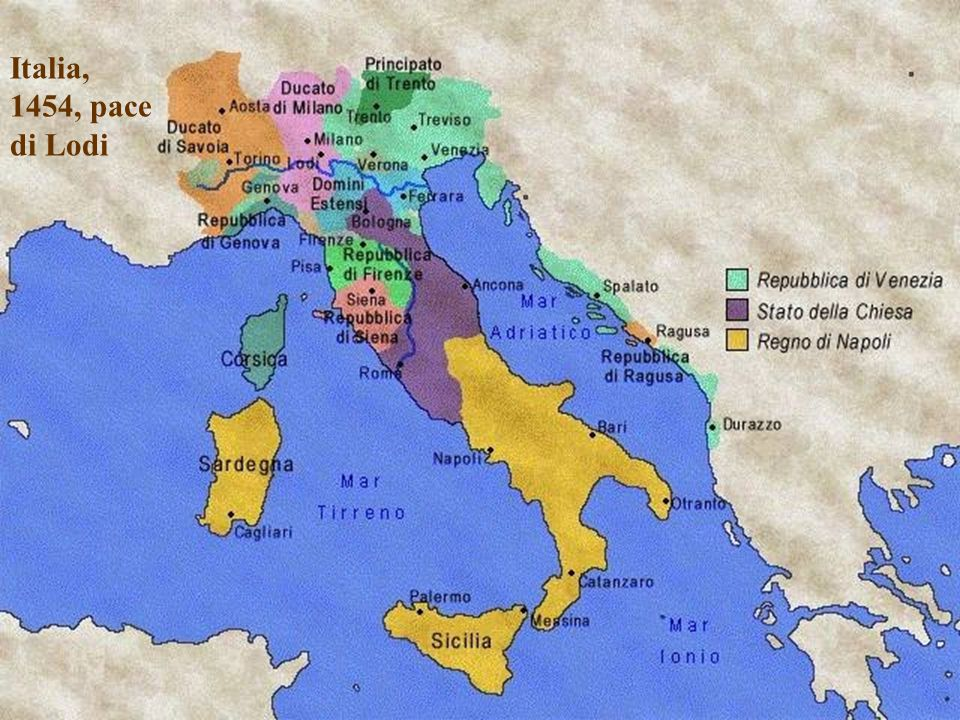 Italia, 1454, pace di Lodi