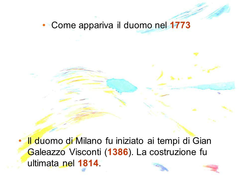 Come appariva il duomo nel 1773