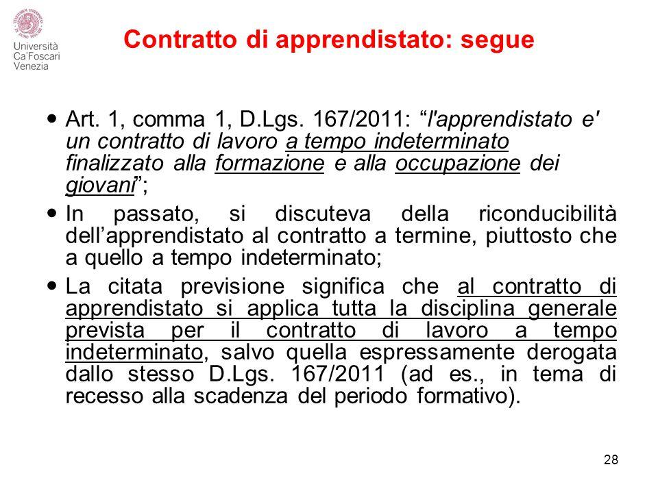 Contratto di apprendistato: segue