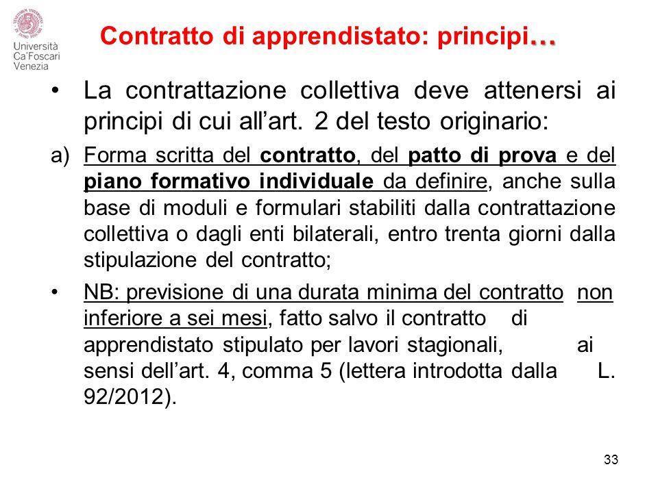 Contratto di apprendistato: principi…