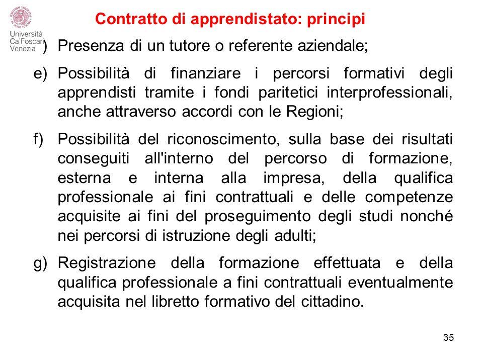 Contratto di apprendistato: principi