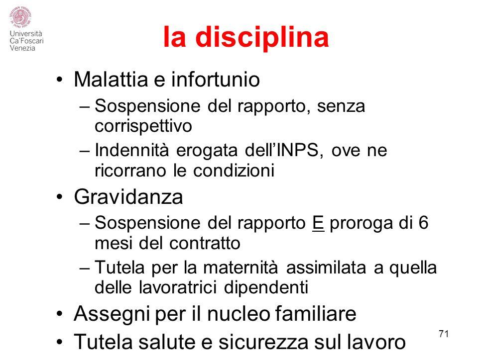 la disciplina Malattia e infortunio Gravidanza