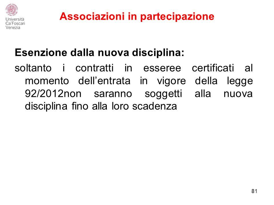 Associazioni in partecipazione