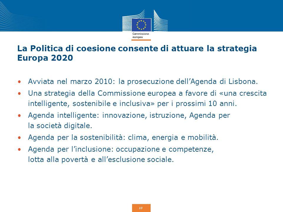 La Politica di coesione consente di attuare la strategia Europa 2020