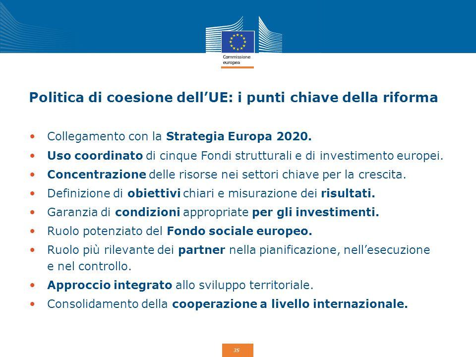 Politica di coesione dell'UE: i punti chiave della riforma