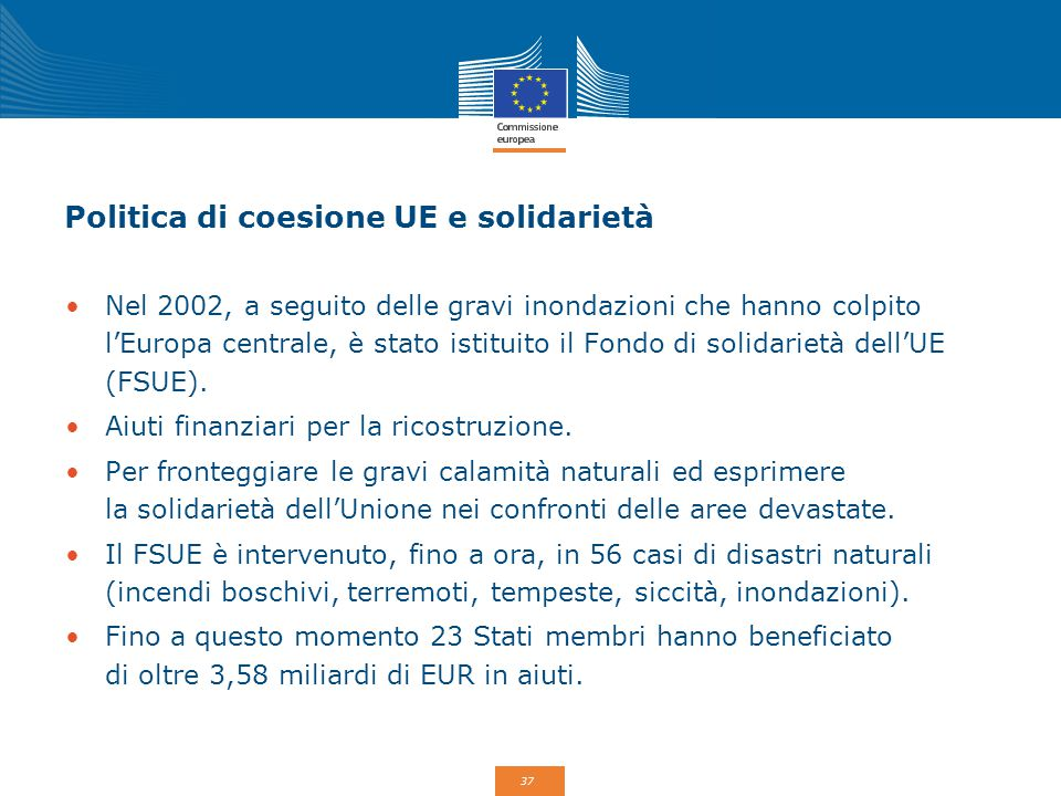Politica di coesione UE e solidarietà