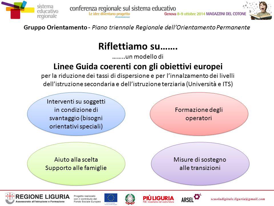 Linee Guida coerenti con gli obiettivi europei